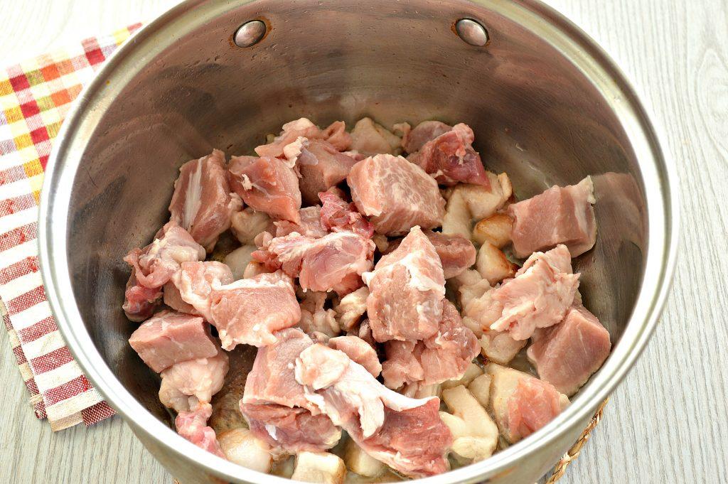 Фото рецепта - Шурпа со свининой, перцем, помидорами - шаг 1