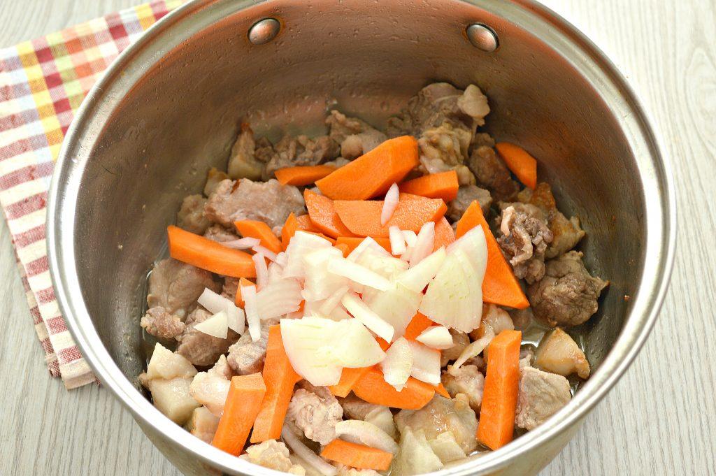 Фото рецепта - Шурпа со свининой, перцем, помидорами - шаг 2