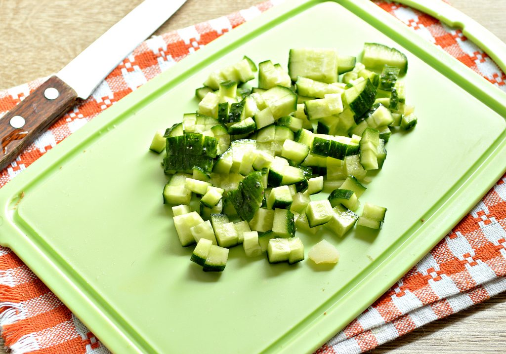 Фото рецепта - Картофельный салат с овощами и печенью - шаг 4