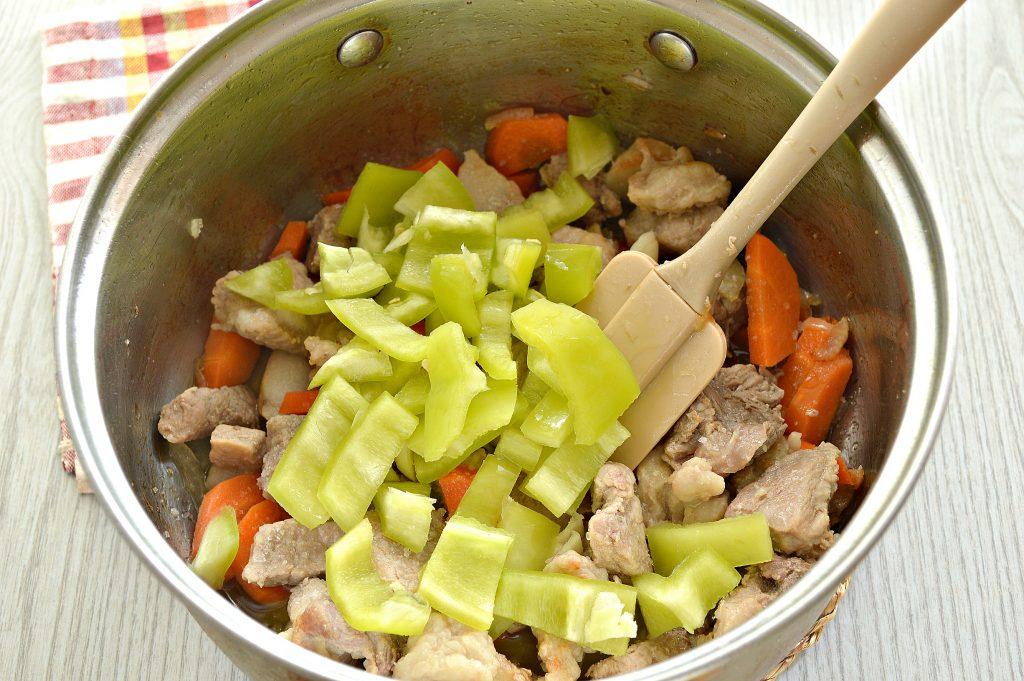 Фото рецепта - Шурпа со свининой, перцем, помидорами - шаг 4
