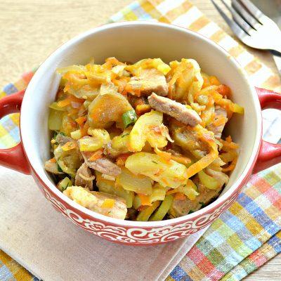 Свинина, тушеная с кабачками, баклажанами, помидорами и перцем (рагу) - рецепт с фото