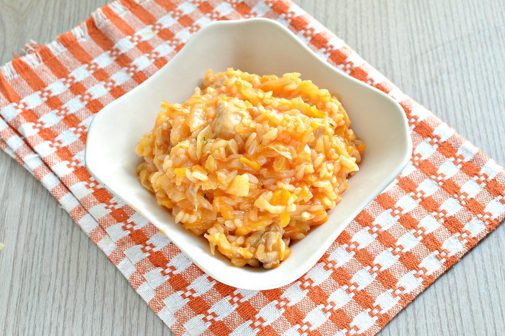 Фото рецепта - Капуста, тушенная с рисом и курицей - шаг 8