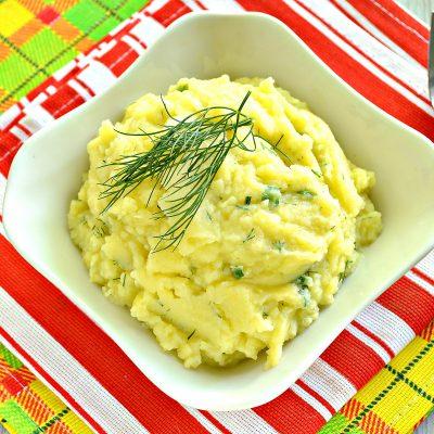 Картофельное пюре с зеленью и молоком - рецепт с фото