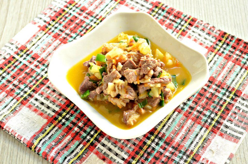 Фото рецепта - Рагу из говядины и кабачков - шаг 8