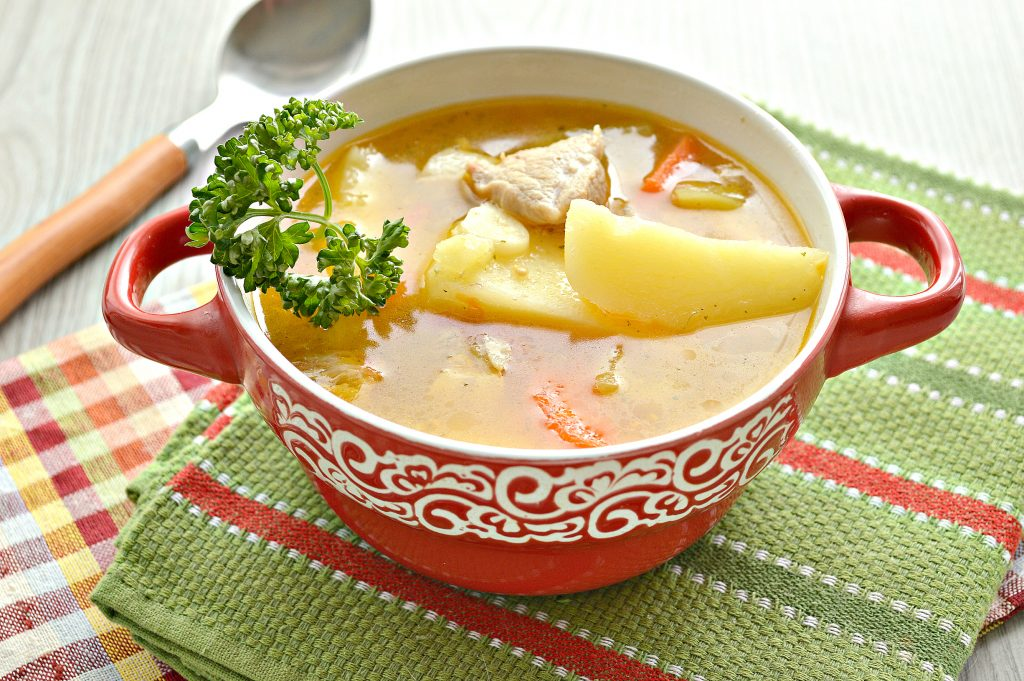 Фото рецепта - Шурпа со свининой, перцем, помидорами - шаг 9