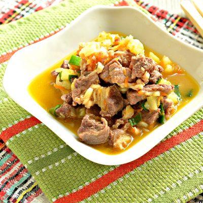 Рагу из говядины и кабачков - рецепт с фото