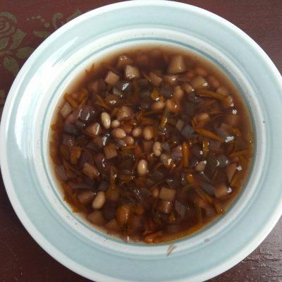 Постный овощной суп с консервированной фасолью - рецепт с фото