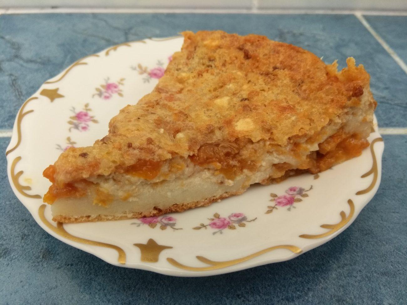 Клафути с абрикосовым вареньем (заливной пирог)