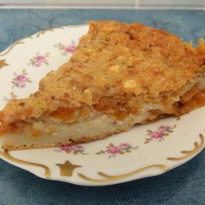Клафути с абрикосовым вареньем (заливной пирог) - рецепт с фото
