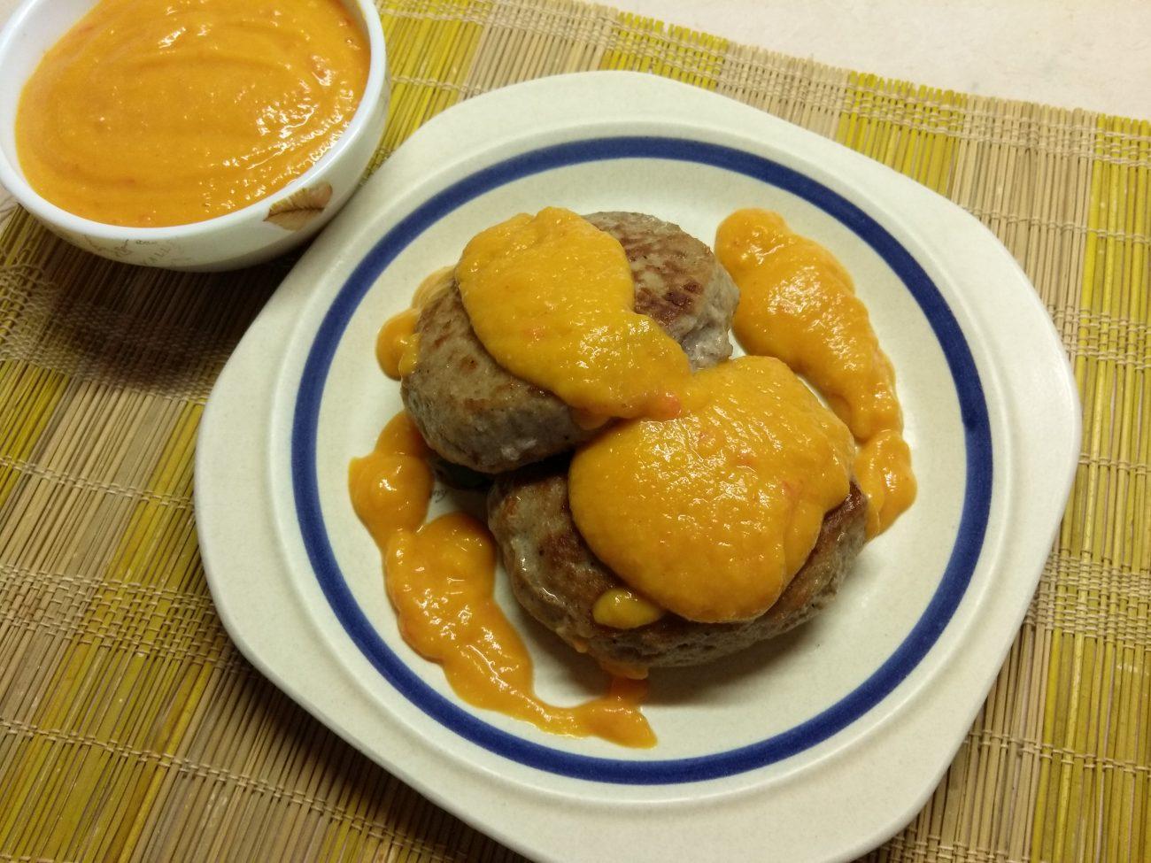 Острый абрикосовый соус к мясу