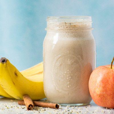 Молочный яблочно-банановый смузи - рецепт с фото