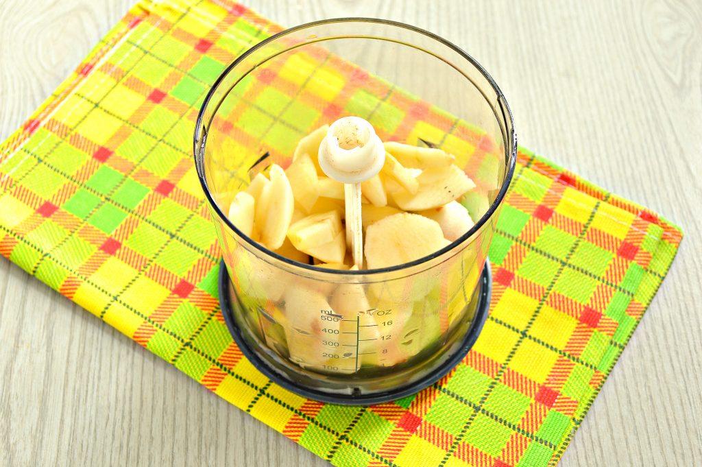 Фото рецепта - Молочный коктейль с яблоком и медом - шаг 2