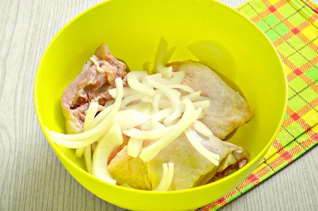 Фото рецепта - Курица кусочками в рукаве - шаг 2