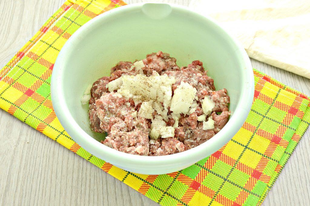 Фото рецепта - Ленивые чебуреки из лаваша на сковороде - шаг 2