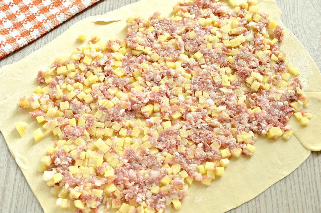 Фото рецепта - Ханум с картофелем и фаршем - шаг 5