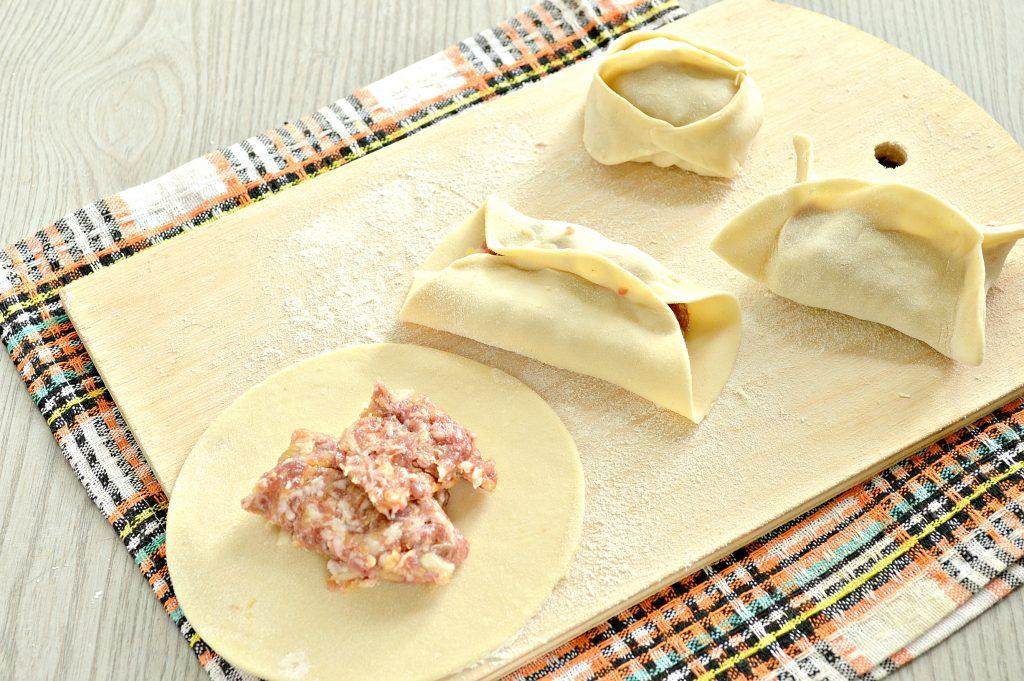 Фото рецепта - Манты с мясным фаршем и тыквой - шаг 5