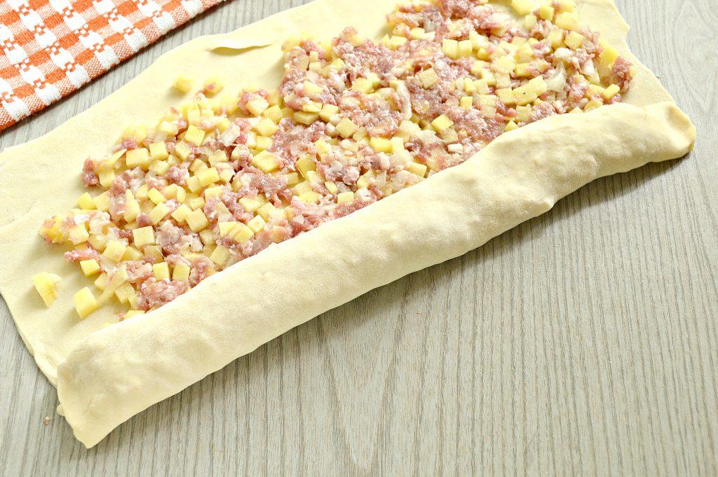 Фото рецепта - Ханум с картофелем и фаршем - шаг 6