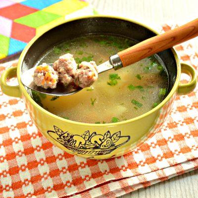 Суп-лапша с мясными фрикадельками - рецепт с фото