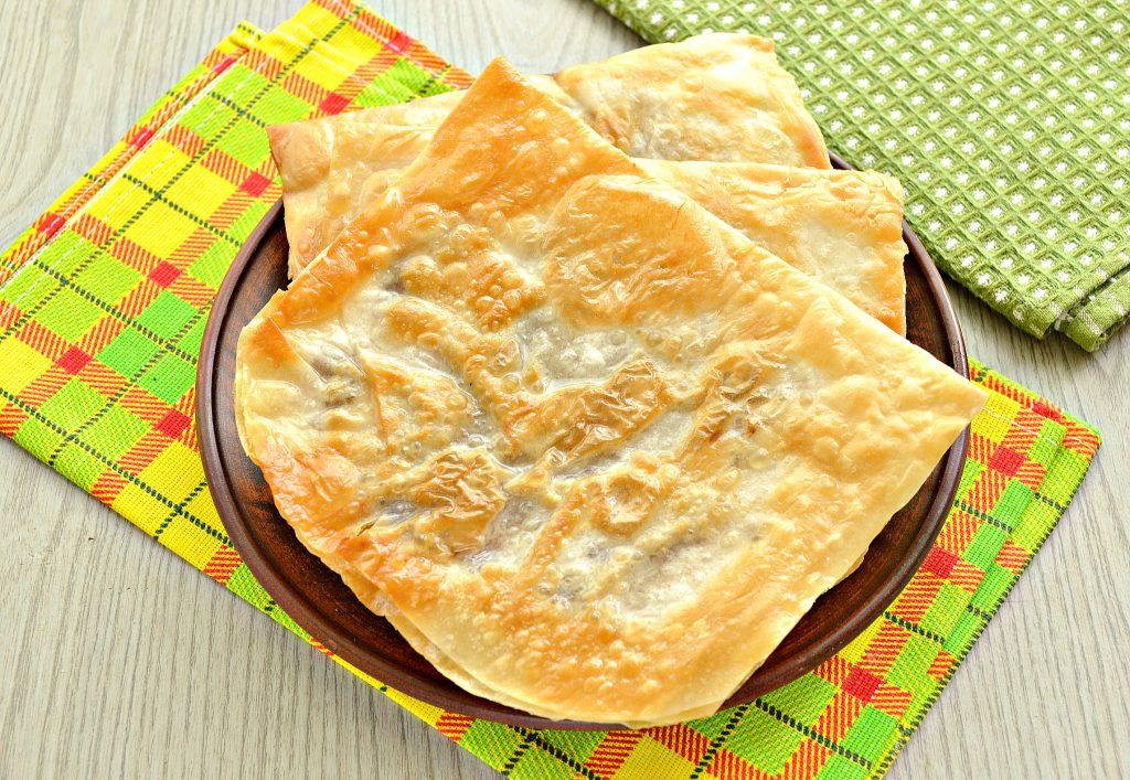 Фото рецепта - Ленивые чебуреки из лаваша на сковороде - шаг 8