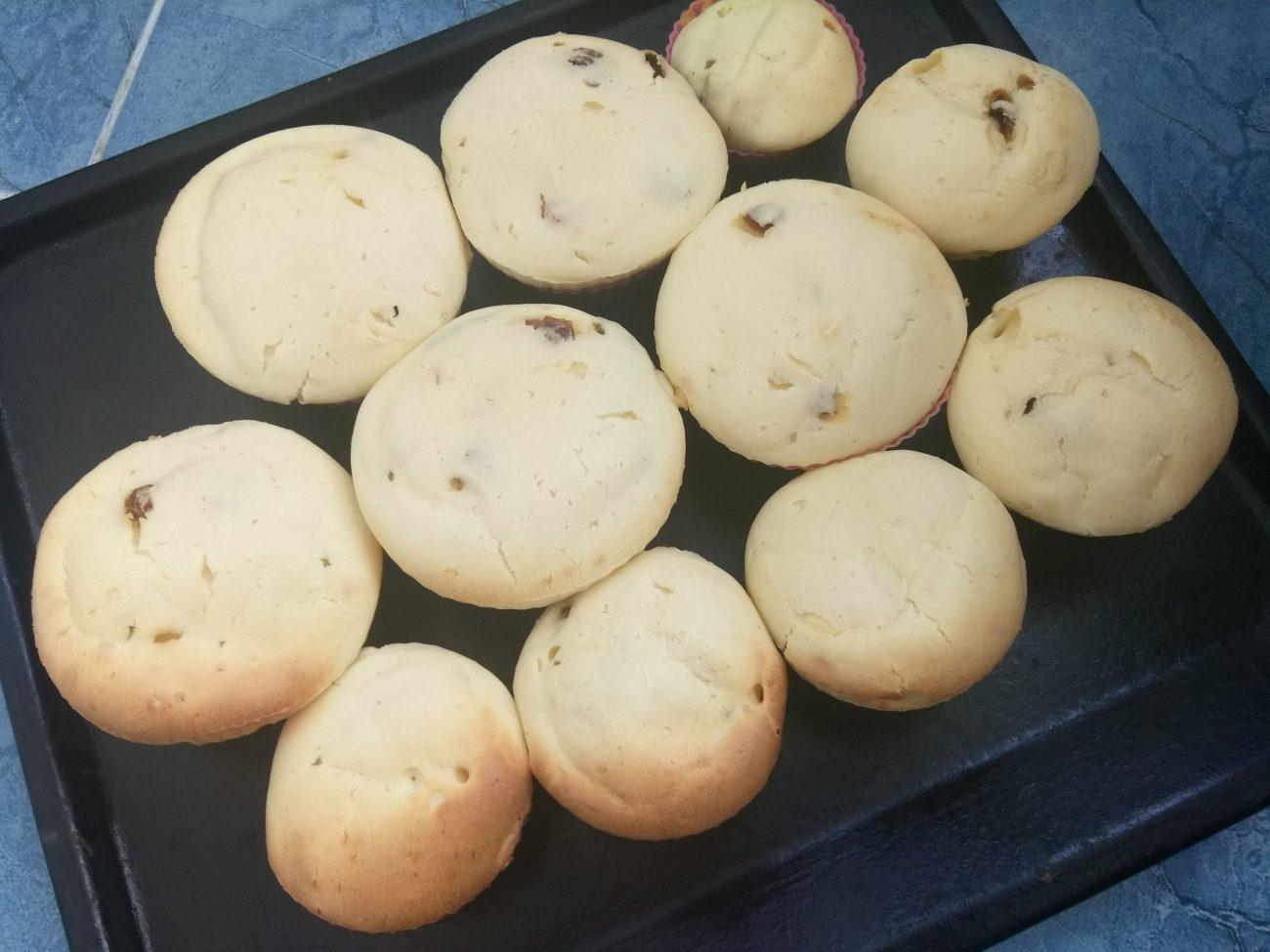 Творожные кексы с финиками