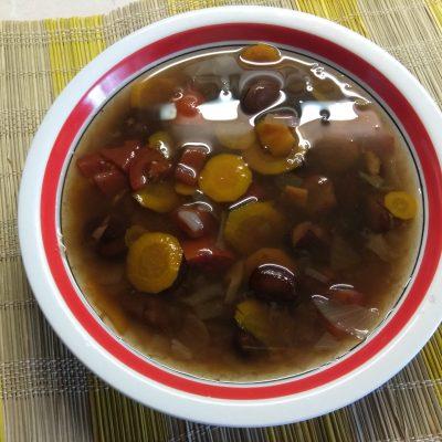 Суп без мяса из соевых бобов - рецепт с фото