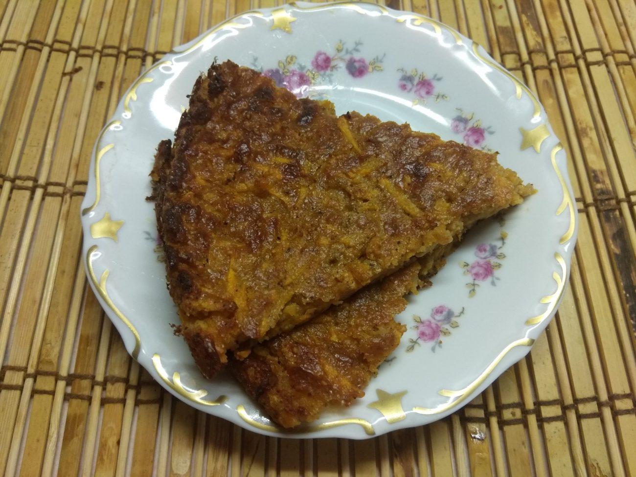 Морковный пирог с арахисом