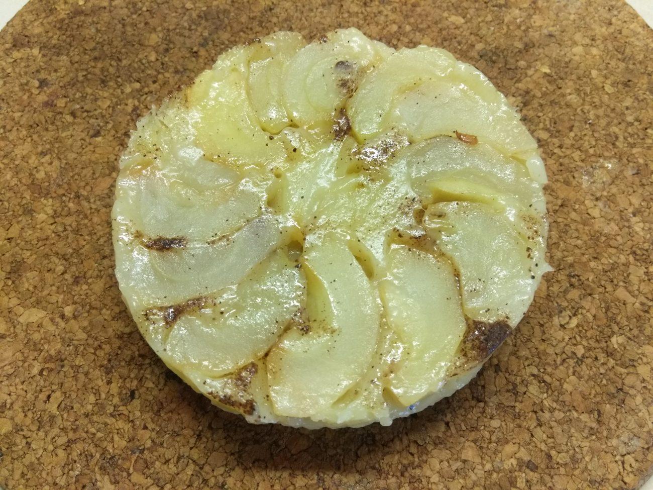 Тарт татен с яблоками, в микроволновке