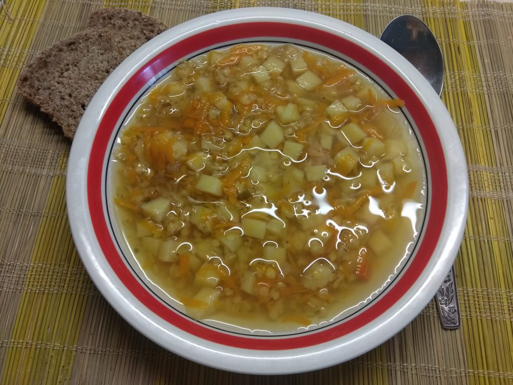 Фото рецепта - Постный суп с чечевицей - шаг 2
