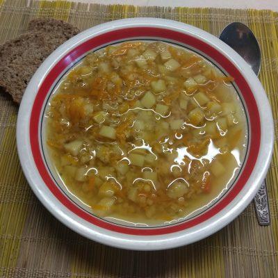 Постный суп с чечевицей - рецепт с фото