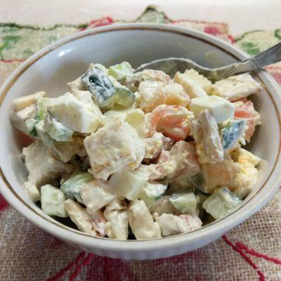 """Салат с куриной грудкой и яблоком """"Мечта гурмана"""" - рецепт с фото"""
