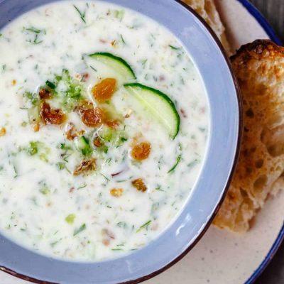Огуречный холодный суп - рецепт с фото