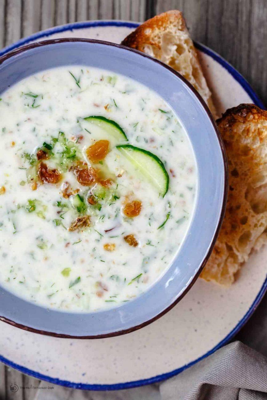 Огуречный холодный суп