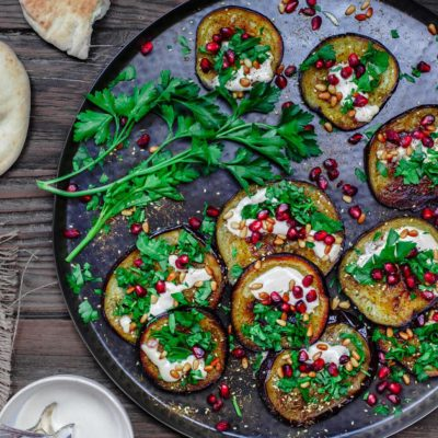 Запеченные баклажана по-средиземноморски - рецепт с фото