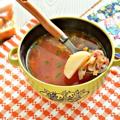 Красный борщ с индейкой - рецепт с фото