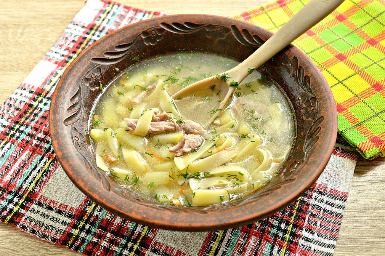 Лапшичный суп с индейкой