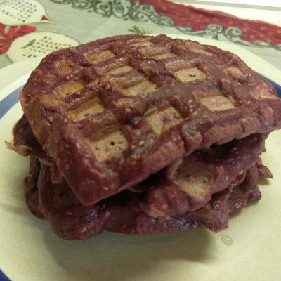 Малиновые вафли - рецепт с фото