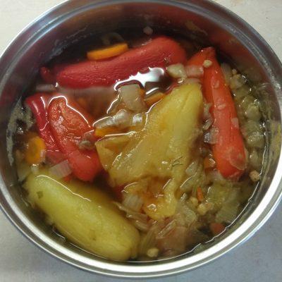 Фото рецепта - Постный крем-суп из запеченного болгарского перца - шаг 3