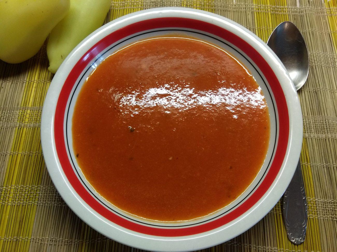 Постный крем-суп из запеченного болгарского перца