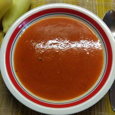Постный крем-суп из запеченного болгарского перца - рецепт с фото