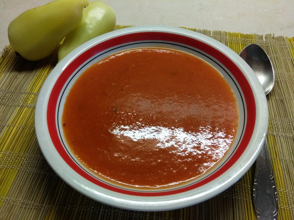 Фото рецепта - Постный крем-суп из запеченного болгарского перца - шаг 5