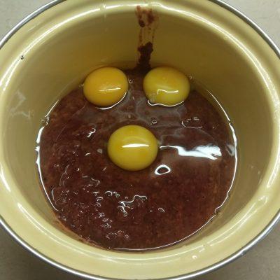 Фото рецепта - Печеночная запеканка с кабачком и баклажанами - шаг 4