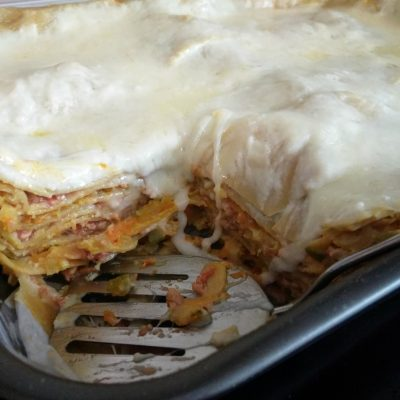 Фото рецепта - Лазанья со свиным фаршем и кабачком - шаг 9