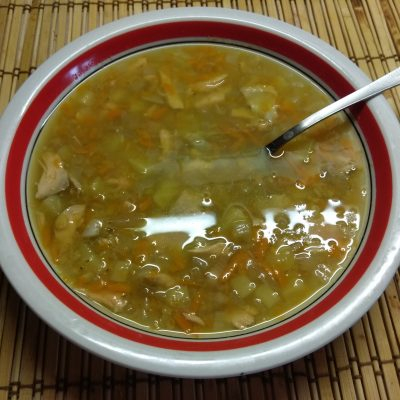 Суп из лосося с чечевицей - рецепт с фото