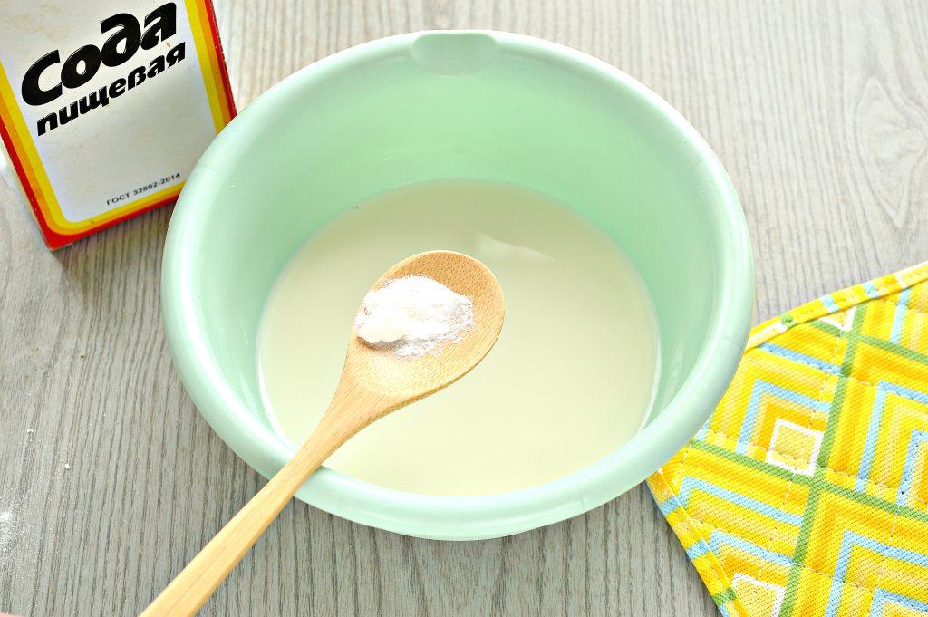 Фото рецепта - Заварные блины на прокисшем молоке - шаг 1