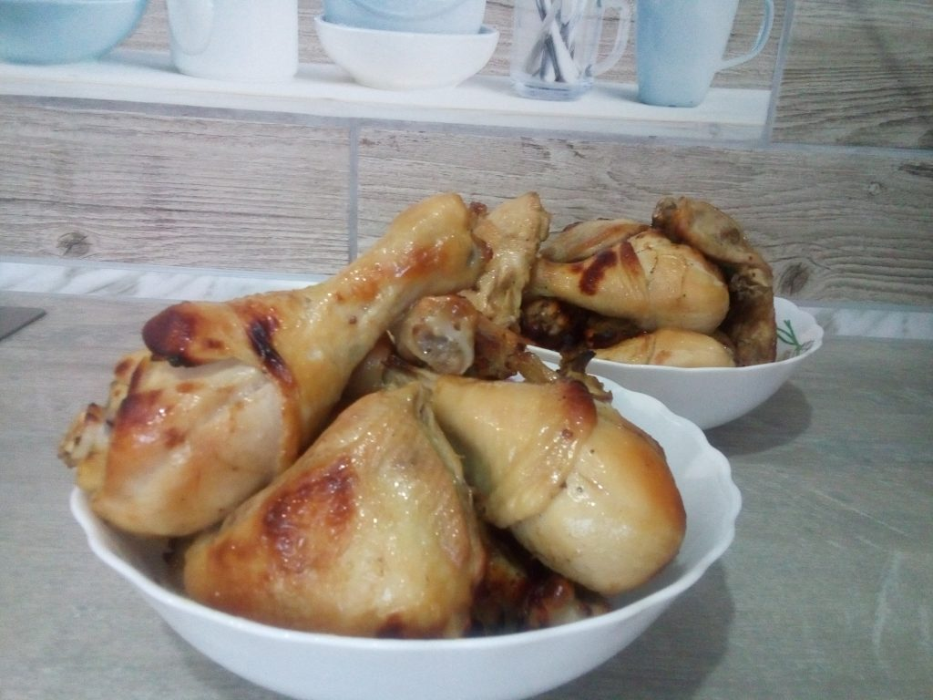 Фото рецепта - Запеченные куриные голени в кисло-сладком маринаде - шаг 5