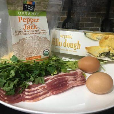 Фото рецепта - Быстрый яичный завтрак с тестом Фило (Filo) - шаг 1