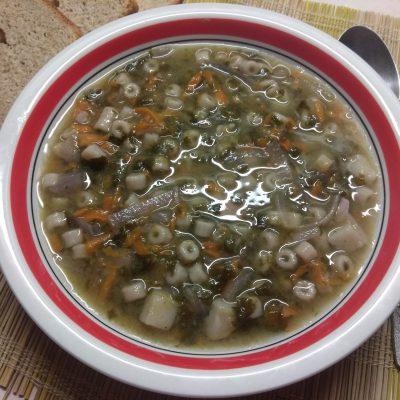 Постный суп со щавелем и макаронами - рецепт с фото