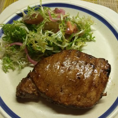 Фото рецепта - Маринованный стейк из свинины в азиатском стиле - шаг 4