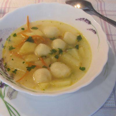 Суп с клецками из заварного теста - рецепт с фото
