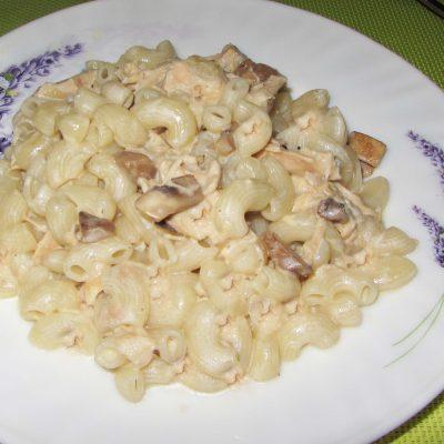 Макароны с грибами в сливочном соусе - рецепт с фото